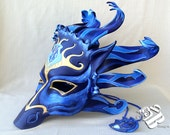 Greek God of The Sea, Poseidon Horse Leather Mask