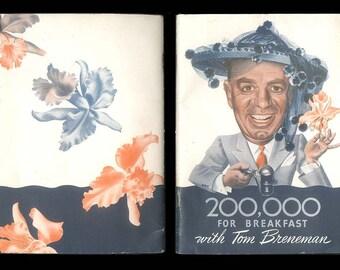 Vintage 1943 Kellogg Company Advertising Old time Radio 200,000 for Breakfast with Tom Breneman Breakfast in Hollywood Vintage Book