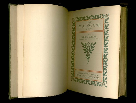 The Moonstone by Wilkie Collins, His Famous Mystery Novel,  Hardcover Book, circa 1902
