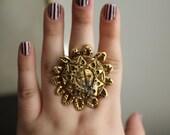 Sun shaped ring