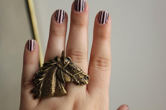 Horse bronze ring