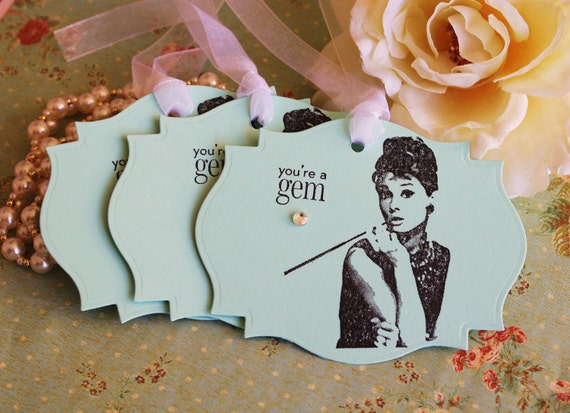 Items Similar To Breakfast At Tiffanys Theme Audrey Hepburn Gift Tags Tiffany Amp Co Youre