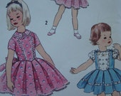 simplicity vintage 1960s childs DRESS sewing pattern SIZE 6 basque bodice full skirt RETRO party uncut