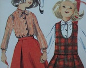 vintage 1965 simplicity CHILDS sewing pattern SCHOOL wardrobe jumper top blouse SKIRT slacks size 4