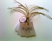 Dragonfly Gift Tags - Set of Six