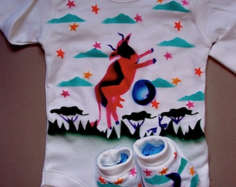 Cow Jumps Over Moon,  Hand Painted,  ,