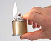 1950s Chromium and Brass Ronson Sport Pocket Lighter