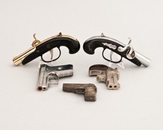 Set of five Novelty Pistol Lighters