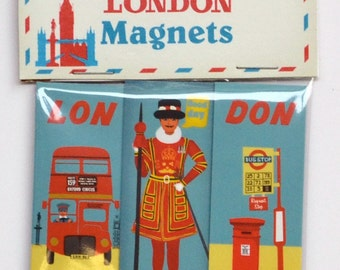 London Magnet : Bus and Beefeater