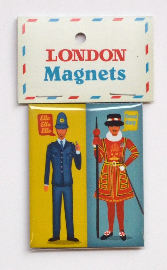 London Magnet : Policeman and Beefeater