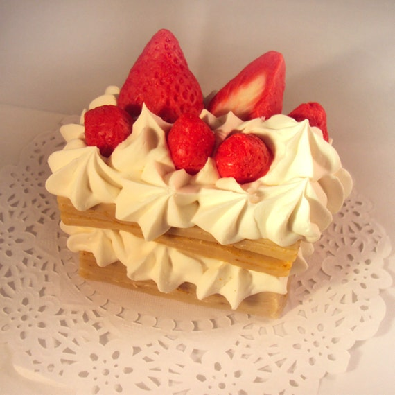 millefeuilles strawberry soap