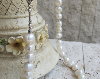 White Freshwater Culture Pearl Necklace