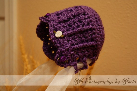 Purple Lace Bonnet (pattern)