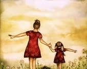 "Mother and daughter ""our path"" art print"