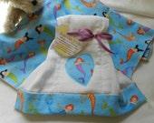 Recieving Blanket /Burp cloth set