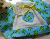 Recieving blanket/burp cloth set