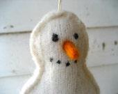 White Wool Snowman Christmas Ornament/Decoration