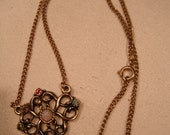 Vintage Sarah Coventry Necklace or chain integrated Pendant in Gold