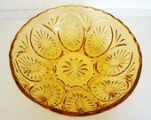 Amber Glass VINTAGE Serving Bowl