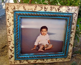 8x10 Victorian Baroque Handmade Distressed Frame-Any Size- Any Color-