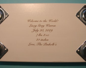 Engraving for Personalzied Stools