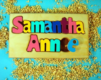 Double Name Puzzle Board