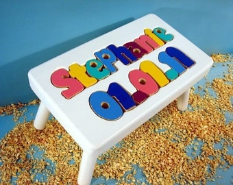 Birthdate Step Stool