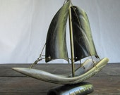 Vintage Sailboat Made From, Well, I'm Not Sure...
