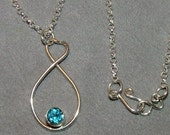 Sterling Silver and Swiss Blue Topaz necklace