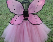 Princess Tutu. Pink with pink and black  fairy wings.