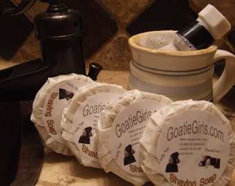 4 Goat Milk Shaving Soaps & Sale Priced