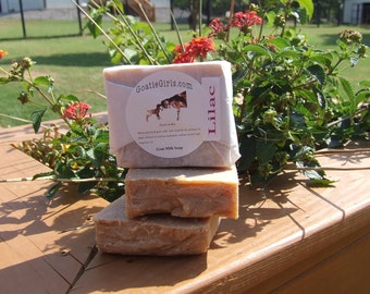 Lilac Goat Milk Soap Handcrafted by GoatieGirls
