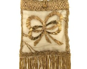 Antique Wedding Handbag Gold with Fringe 7516