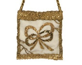 Antique Wedding Handbag Gold 7517