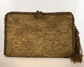 Antique Bronze Lace Clutch  8706