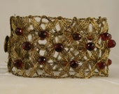 Antique Red Garnet Cuff   9839