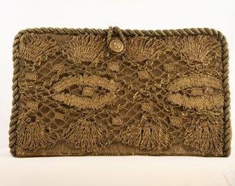 Antique Bronze Lace Clutch  8717