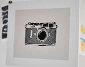 Vintage Camera Block Print