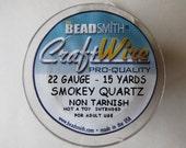 22 gauge Smokey Quartz Round Beadsmith Craft Wire 15yds