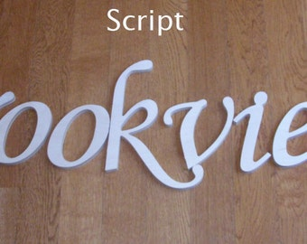 14 inch  Wooden Unpainted Letters-Wood Letters-Wall Letters-Unfinished-Custom size available