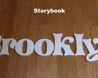 7 letters name set - 8 inch  Wooden Unpainted Letters-Wood Letters-Wall Letters-Unfinished-Custom size available- Many Fonts