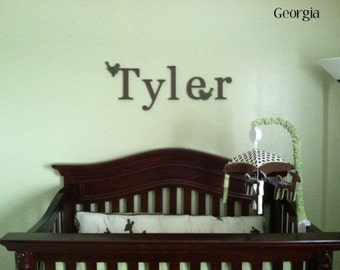 set of 5 Wooden Wall Letters- 10 inch - Custom Hand painted Wooden Letters, Nursery Decor, Baby Shower, Gifts, Kids Room