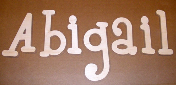 "READY TO SHIP 6""  Unpainted Wooden  Letters-Wood Wall Letter-Room decor-Unfinished-Custom size available"