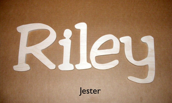 "12"" Unpainted  Wooden Wall  Letters-Room decor- Unfinished Wall Letters-Custom size available- Many Fonts"