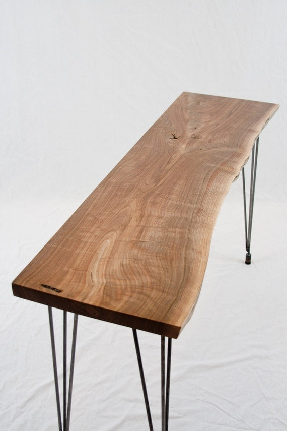 ON HOLD for Aynur - Black Walnut Console Table - Lovely/Simple/Reclaimed - Live Edge