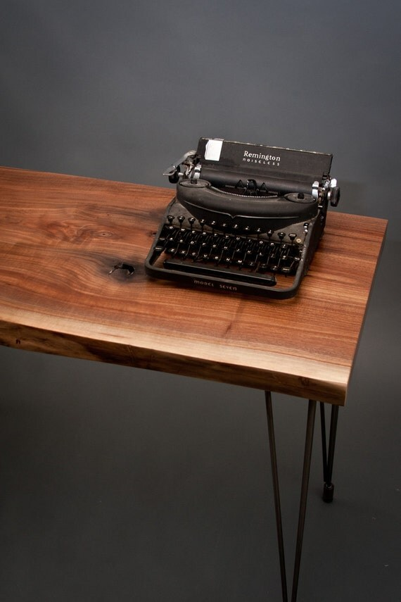 Live Edge Black Walnut DESK - Elegant/Natural/Simple