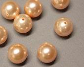 Pearls - Swarovski Crystal - Qty 10 - 8mm - Round Peach - Ref 187