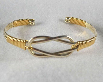 """Bracelet TUTORIAL Wire wrapped Cuff pdf   """"Knotted Cuff"""" - Learn to make this bracelet. Intermediate"""