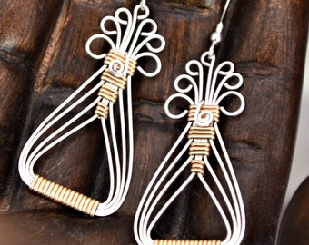 Wirewrap TUTORIAL.  Egyptian Earrings.   Intermediate