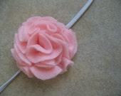 Macy - Pink Pom Felt Flower